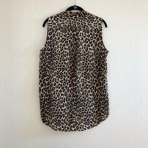 41170dce81ebcf Equipment Tops - Equipment • Leopard Print Kiara Sleeveless Blouse